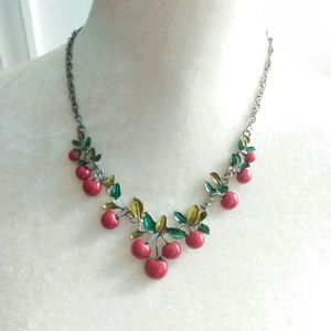 NWT Betsey Johnson Cherry Pie Summer Necklace